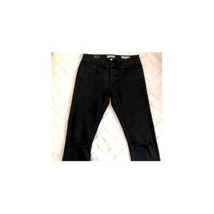 MEN🖤 Only&Sons - Ripped Knees Black Skinny Jeans